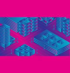 ultraviolet city vector image