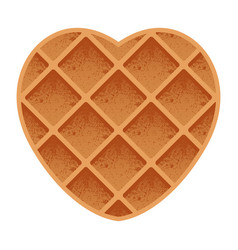 Valentines day heart shaped waffles sweet pastry vector