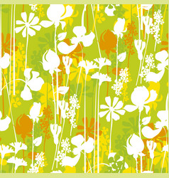 vivivd green summer meadow seamless pattern vector image
