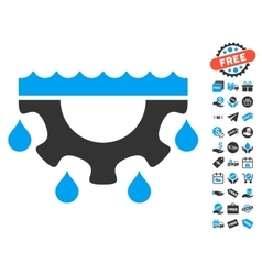 Water Gear Drops Icon With Free Bonus vector