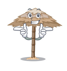 Wink character tropical sand beach shelter resort vector