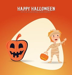 With halloween and costume vector