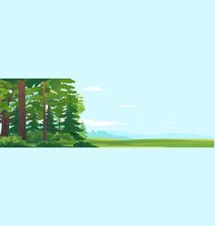 Woodland edge nature landscape background vector