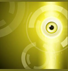 yellow background with eye vector image