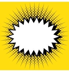 bubble speech pop art design vector image