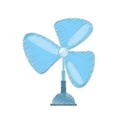 Drawing pedestal fan electronic domestic appliance vector