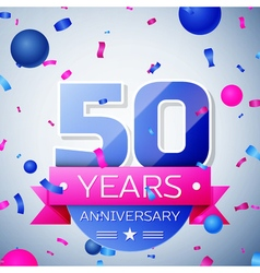 Fifty years anniversary celebration on grey vector
