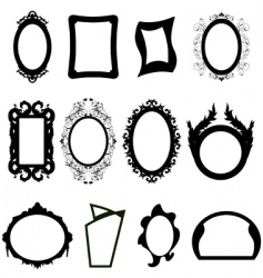 mirror silhouettes set vector image