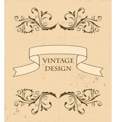 retro design element vector image vector image