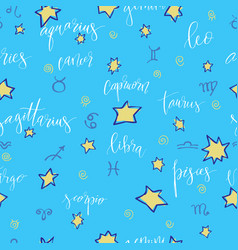 seamless with zodiac vector image vector image