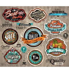 Set of Premium Quality Vintage Labels vector image vector image