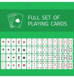 Full set of playing cards vector image