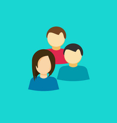 people group icon flat persons together vector image vector image