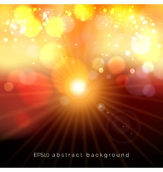 Red and yellow bokeh festive pastel lights glow vector image