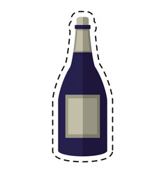 Cartoon bottle wine alcohol drink vector