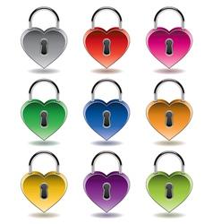 colorful metal padlocks vector image vector image