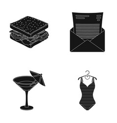 Food alcohol and other web icon in black style vector