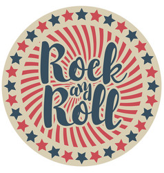 round emblem with inscription rock and roll vector image vector image