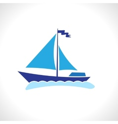 Sail ship isolated vector image