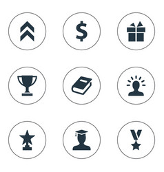 Set of simple trophy icons vector