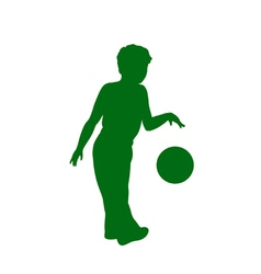 Silhouette of little boy vector image