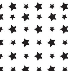 Stars sky black white pattern vector image vector image