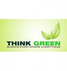 think green card vector image vector image