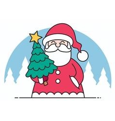 Santa Flat Design vector image