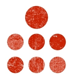 Set grunge circle vector image