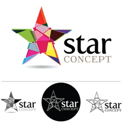 Star Concept vector image vector image