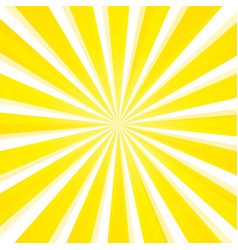 Abstract light yellow sun rays background vector