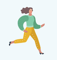 admire running woman that is hurrying vector image