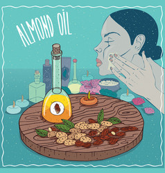 almond oil used for skin care vector image