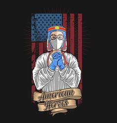 American medical officer vector