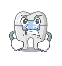Angry braces in a cartoon shape vector