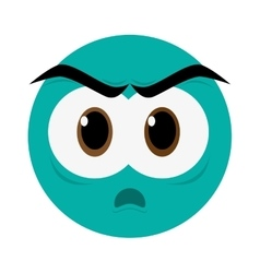 angry face emoticon icon vector image