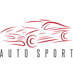 Auto sport abstract car design template vector