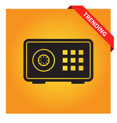 Bank safe box icon for web and mobile vector