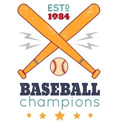 baseball retro poster new color vector image vector image