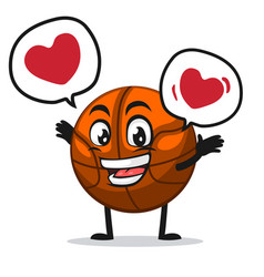 basket ball mascot or character vector image