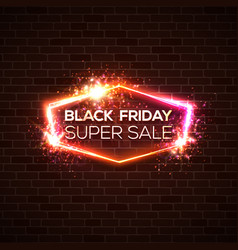 black friday super sale background discount card vector image