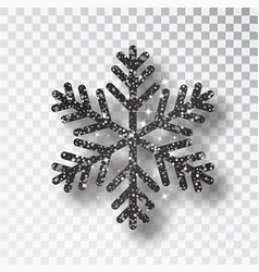 black snowflake christmas black decoration vector image