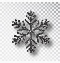black snowflake christmas decoration vector image