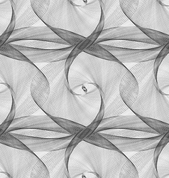 Black white seamless elliptical curved pattern vector