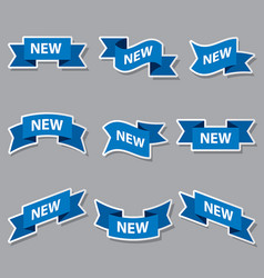 blue new advertising banners vector image