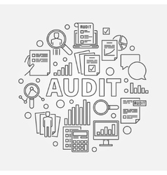 Business audit round vector image