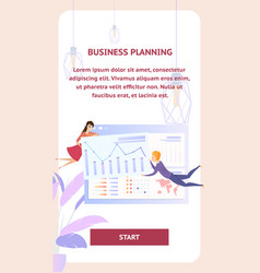 business planning analysis character mobile banner vector image