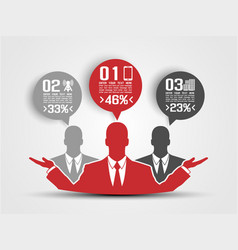 Businessman concept of five option red 2 vector