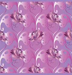 butterflies seamless pattern love heart vector image