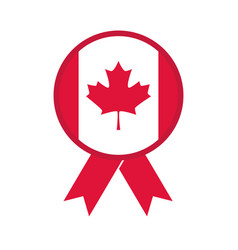 Canada day canadian flag maple leaf clothespin vector